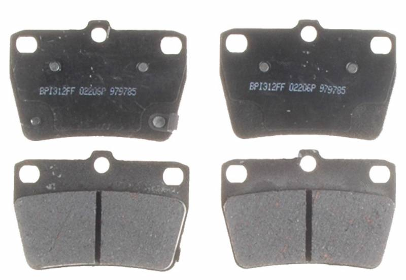 Acdelco 17d1051c Ceramic Rear Disc Brake Pad Set