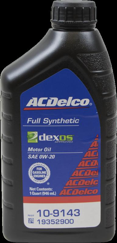 Acdelco 10 9143 dexos1 0w 20 motor oil 1 qt for Dexos synthetic motor oil