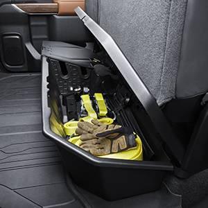 GM Accessories 23183674 Crew Cab Underseat Storage Compartment in Black