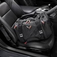 GM Accessories - GM Accessories 22970470 - 40L Duffel Bag in Jet Black with Crossed Flags Logo [C7 Corvette]