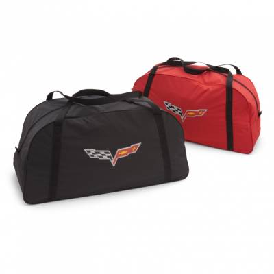 GM Accessories - GM Accessories 19158353 -Vehicle Cover Storage Bag in Red with Crossed Flags Logo [C6 Corvette]