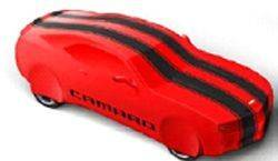 GM Accessories - GM Accessories 92215993 -Premium All-Weather Car Cover in Red with Black Stripes and Camaro Script