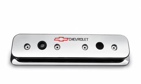 Chevrolet Performance - Chevrolet Performance 12497985 - Chrome-Finish Aluminum Valve Covers, Center Bolt Design