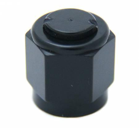 Nitrous Outlet - Nitrous Outlet 00-01052 - 6AN Aluminum Cap (Black)