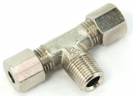 "Nitrous Outlet - Nitrous Outlet 00-01468-B - 1/8"" NPT x 3/16"" Compression x 3/16"" Compression Branch Tee"