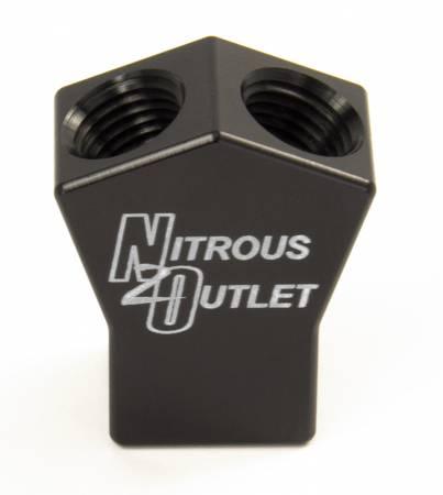 """Nitrous Outlet - Nitrous Outlet 00-01710 -  High Flow Y Distribution Block (1/4"""" NPT Inlet, 1/4"""" NPT Outlets)"""