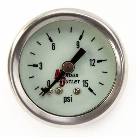 Nitrous Outlet - Nitrous Outlet 00-63003 -  Luminescent Fuel Pressure Gauge (0-15psi)