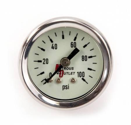 Nitrous Outlet - Nitrous Outlet 00-63004 -  Luminescent Fuel Pressure Gauge (0-100psi)
