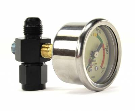 Nitrous Outlet - Nitrous Outlet 00-63001-6 -  luminescent Nitrous Pressure Gauge & 6AN Manifold