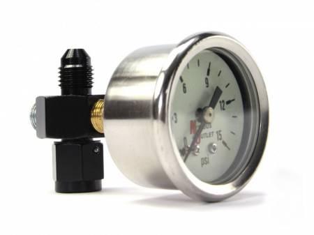 Nitrous Outlet - Nitrous Outlet 00-63003-4 -  Fuel Pressure Gauge & 4AN Manifold (0-15psi)