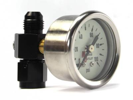 Nitrous Outlet - Nitrous Outlet 00-63004-6 -  Luminescent Fuel Pressure Gauge & 6AN Manifold (0-100psi)