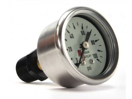 """Nitrous Outlet - Nitrous Outlet 00-63004-B -  Luminescent Fuel Pressure Gauge & 3/8"""" NPT/ 1/8"""" NPT Bushing (0-100psi)"""