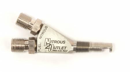 """Nitrous Outlet - Nitrous Outlet 00-40006 -  1/16"""" Stainless 90? Wet Nitrous Nozzle"""