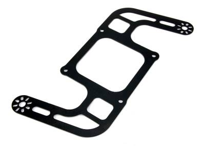 Nitrous Outlet - Nitrous Outlet 00-54607 -  4500 Flange boomerang 2 solenoid bracket, Mounts one solenoid diagonally in front and one solenoid diagonally in back offset of each other.