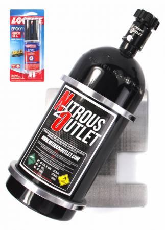 Nitrous Outlet - Nitrous Outlet 00-33020-L -  97-04 Corvette Single 10lb/15lb Nitrous Bottle Bracket Mounting Plate (Mounts on Driver Side) - MOUNTING PLATE ONLY