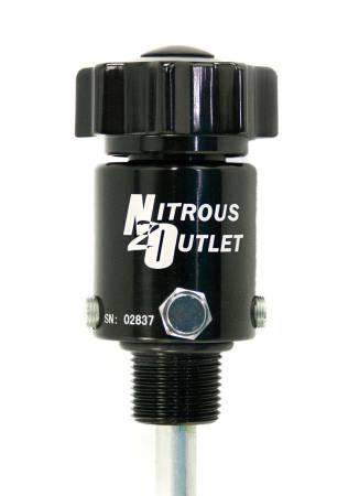 Nitrous Outlet - Nitrous Outlet 00-31012 -  Billet High Flow Valve (Siphon Tube Included For 10lb Bottle)