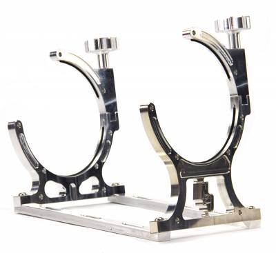 Nitrous Outlet - Nitrous Outlet 00-32011 -  Single Billet 10lb/15lb Nitrous Bottle Bracket (Horizontal Mount)