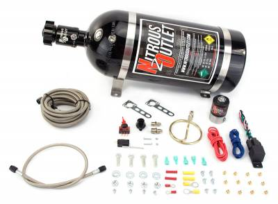Nitrous Outlet - Nitrous Outlet 00-10202-10 -  GM EFI Small Distribution Ring System (35-200HP) (10lb Bottle)