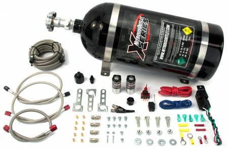 Nitrous Outlet - Nitrous Outlet 22-82000 - X-Series 87-98 Mustang GT, Cobra EFI Single Nozzle System (45psi)(35-50-75-100-150-200 HP)