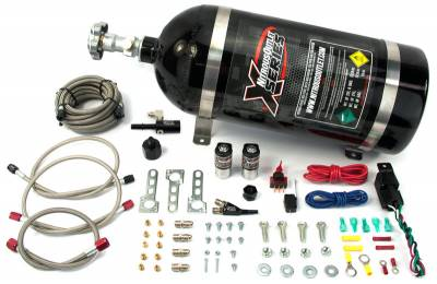 Nitrous Outlet - Nitrous Outlet 22-82003 - X-Series 2011+ Mustang EFI Single Nozzle System (55psi)(35-50-75-100-150-200 HP)
