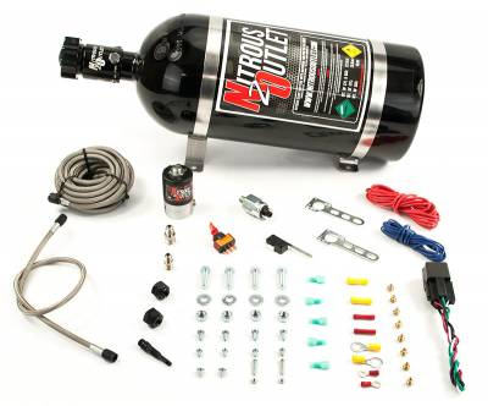 Nitrous Outlet - Nitrous Outlet 00-10250-10 -  Universal Diesel Single Nozzle Dry System (35-200HP) (10lb Bottle)