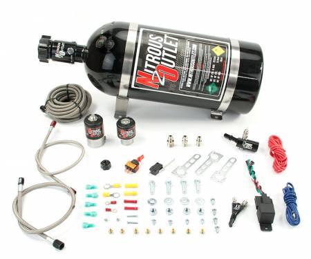 Nitrous Outlet - Nitrous Outlet 00-10005-15 -  2014+ GM Universal Single Nozzle System (35-200HP)(15lb Bottle)