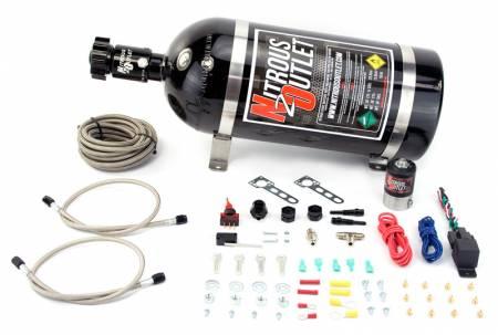 Nitrous Outlet - Nitrous Outlet 00-10201-15 -  GM EFI Dry Dual Nozzle System (70-200HP) (15lb Bottle)