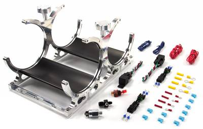 Nitrous Outlet - Nitrous Outlet 00-32016-6 -  Automatic Dual Billet Heated Vertical Nitrous Bottle Bracket with rubber bottle isolators  (Requires 6an Main Feed Line) (Vertical Mount)