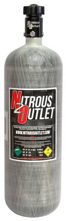 Nitrous Outlet - Nitrous Outlet 00-30145 -  12lb Composite Nitrous Bottle & High Flow Valve