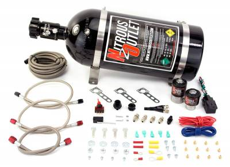 Nitrous Outlet - Nitrous Outlet 00-10010-10 -  Ford 87-98 Mustang GT, Cobra EFI Single Nozzle System (35-200HP) (10lb Bottle)