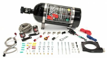 Nitrous Outlet - Nitrous Outlet 00-10175-15 -  2009-2014 CTS-V 90mm Plate system (50-200HP) (15LB Bottle) (55 PSI)