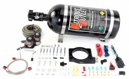 Nitrous Outlet - Nitrous Outlet 00-10148-15 -  2012-2015 Camaro ZL1 Hardline Plate System (50-200HP) (15lb Bottle)