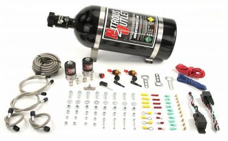 Nitrous Outlet - Nitrous Outlet 00-10207-15 -  Universal EFI Dual Stage Single Nozzle Dry System (35-200HP) (15lb Bottle)