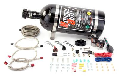 Nitrous Outlet - Nitrous Outlet 00-10014-10 -  99-04 Ford Mustang GT, Cobra, 99-04 5.4 lightning EFI Single Nozzle System (35-200HP) (10lb Bottle)