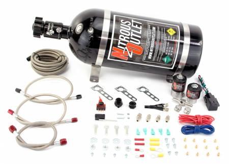 Nitrous Outlet - Nitrous Outlet 00-10030-15 -  Import EFI Single Nozzle System (35-200HP) (15lb Bottle)