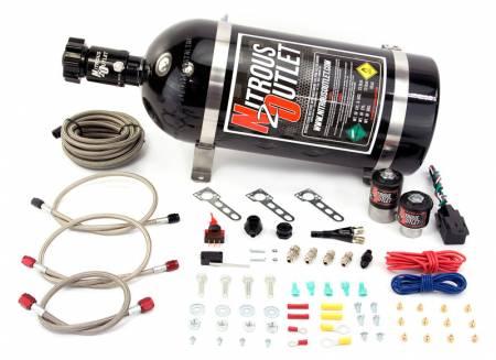 Nitrous Outlet - Nitrous Outlet 00-10010-15 -  Ford 87-98 Mustang GT, Cobra EFI Single Nozzle System (35-200HP) (15lb Bottle)