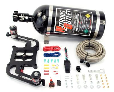 Nitrous Outlet - Nitrous Outlet 00-10604-00 -  4150 Stinger Plate System, With Boomerang 2 Solenoid Bracket (50-400hp) (5,7,10psi) (No Bottle)