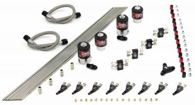 Nitrous Outlet - Nitrous Outlet 00-10422-H-SBT -  8 Cylinder 4 Solenoid Racers Direct-Port Conversion kit with SBT Nozzle's. (.122 Nitrous Solenoids and .177 Fuel Solenoids) (Customer can pick one HP setting at no additional cost.)