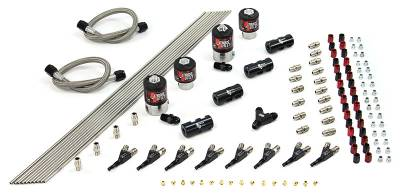 Nitrous Outlet - Nitrous Outlet 00-10459-L-SBT -  8 Cylinder 4 Solenoid Conversion Kit With Distribution Blocks and SBT Nozzle's. (.112 Nitrous Solenoids and .177 Fuel Solenoids) (Customer can pick one HP setting at no additional cost.)