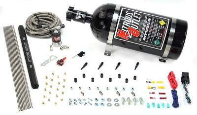 Nitrous Outlet - Nitrous Outlet 00-10361-SBT-15 -  Dry EFI 4 Cylinder 1 Solenoid Direct Port System With Single Rail (50-250HP) (15Lb Bottle) (SBT Nozzle's) (.122 Nitrous Solenoid)