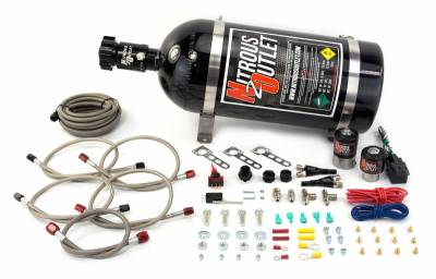Nitrous Outlet - Nitrous Outlet 00-10002-10 -  GM EFI Dual Nozzle System (70-200HP) (10lb Bottle)