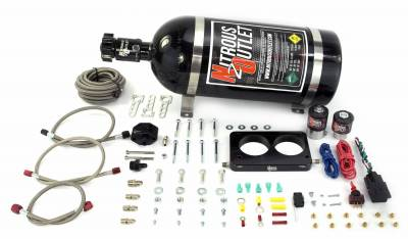 Nitrous Outlet - Nitrous Outlet 00-10142-10 -  05-10 Mustang GT Plate System (50-200HP) (10lb Bottle)