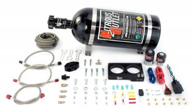 Nitrous Outlet - Nitrous Outlet 00-10156-10 -  99-01 Cobra, 03-04 Mach 1 Ford 4 Valve Plate System (50-200HP) (10Lb Bottle)