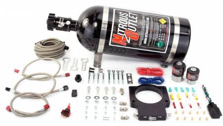 Nitrous Outlet - Nitrous Outlet 00-10107-10 -  90mm GM Truck Plate System (50-200HP) (10lb Bottle)