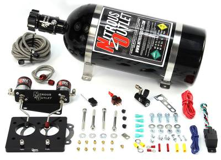 Nitrous Outlet - Nitrous Outlet 00-10117-58-00 -  58mm 93-97 LT1 Hardlined Plate System (50-200HP) (No Bottle)