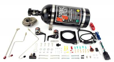 Nitrous Outlet - Nitrous Outlet 00-10119-102-00 -  102mm Fast Intake 2010-2015 Camaro Hardline Plate System (50-200HP) (No Bottle)