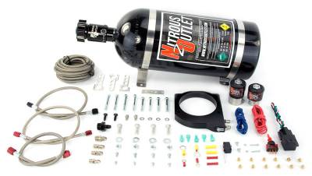 Nitrous Outlet - Nitrous Outlet 00-10115-15 -  102mm LSX Plate System (50-200HP) (15lb Bottle)( For 97-04 Corvette part # 00-42000 is needed )