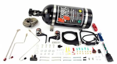 Nitrous Outlet - Nitrous Outlet 00-10119-102-10 -  102mm Fast Intake 2010-2015 Camaro Hardline Plate System(50-200HP) (10lb Bottle)