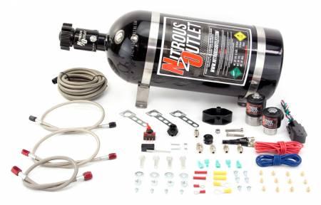 Nitrous Outlet - Nitrous Outlet 00-10014-15 -  99-04 Ford Mustang GT, Cobra, 99-04 5.4 lightning EFI Single Nozzle System (35-200HP) (15lb Bottle)