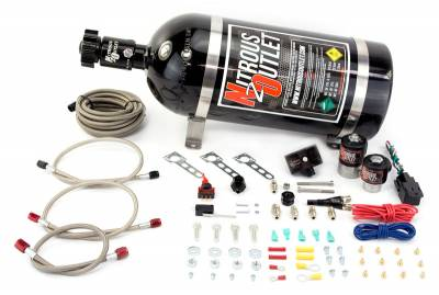 Nitrous Outlet - Nitrous Outlet 00-10015-15 -  05-10 Ford Mustang GT 4.6L, 3V,  EFI Single Nozzle System (35-200HP) (15lb Bottle)